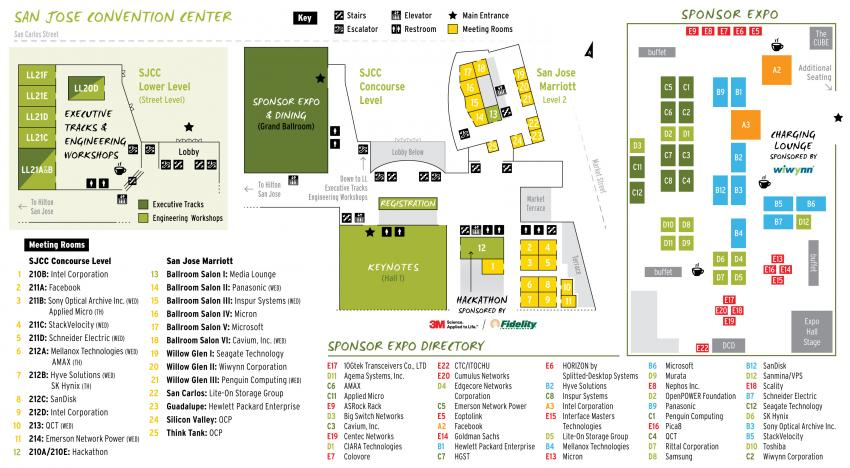 Open Compute Summit 2016 floor plan
