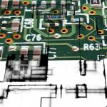 pcb board ready for silicon chips